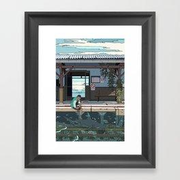 High Tide Tracks Framed Art Print