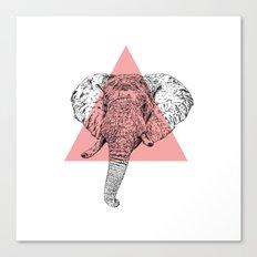 Elephant Head II Canvas Print