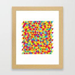 Summer Triangle Pattern Framed Art Print