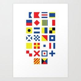The International Code of Signals Art Print