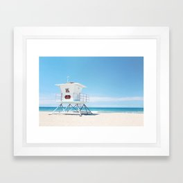 Lifeguard tower Carlsbad 35 Framed Art Print