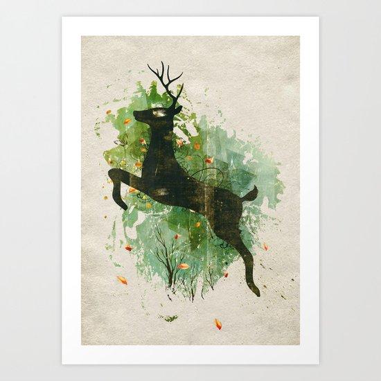 Burst of Nature Art Print