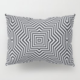 Minimal Geometrical Optical Illusion Style Pattern in Black & White Pillow Sham