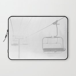 Snow Day Lift // Copper Mountain Colorado Skilift Whiteout Snowing Powder Conditions Laptop Sleeve