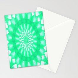 Mozaik Mandala Flower (green) Stationery Cards