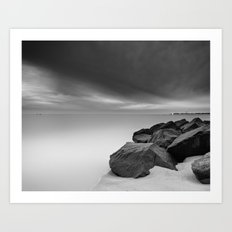 Two Ships and the Approaching Winter Storm Art Print