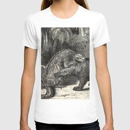 Louis Figuier - Iguanodon versus Megalosaurus T-shirt