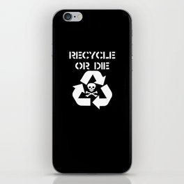 Recycle White iPhone Skin