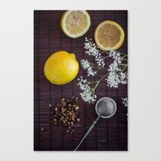Lemon and tea Canvas Print