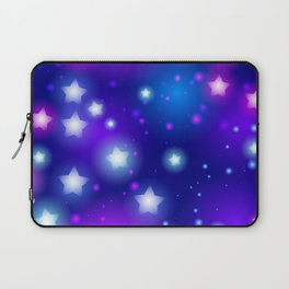 Milky Way Abstract pattern with neon stars on blue background Laptop Sleeve