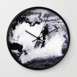 titanium white / carbon black / silver Wall Clock