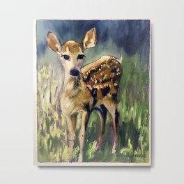 Here I am Deer Metal Print