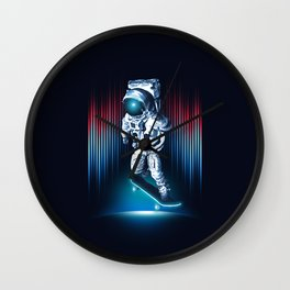 Space Skater Wall Clock