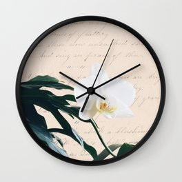 Retro beauty in blush. Wall Clock