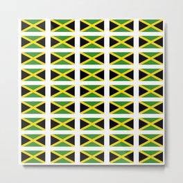 Flag of Jamaica 2-Jamaican,Bob Marley,Reggae,rastafari,cannabis,ganja,america,south america,ragga Metal Print