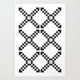Checkerboard X Art Print