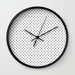 Little Black Hearts Wall Clock