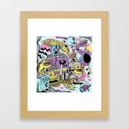 The Adventures of Rad Story Framed Art Print