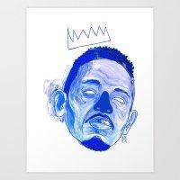 kendrick lamar Art Prints featuring Kendrick Lamar by HUSKMELK
