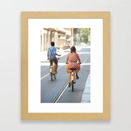Bikers in Milan, Italy Framed Art Print
