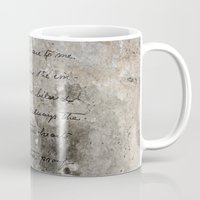 letter Mugs featuring LETTER by ED design for fun