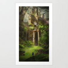 Forest Temple  Art Print