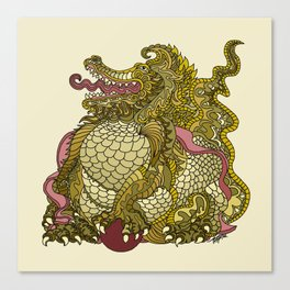Dragon Royal Gold Canvas Print