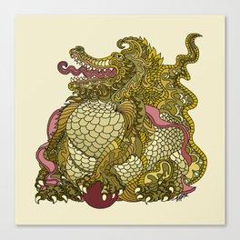 Dragon Royal Gold Canvas Print