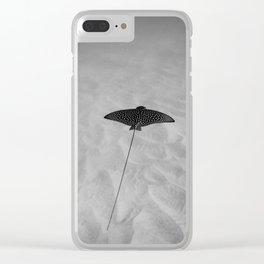 Spotted Eagle Ray Clear iPhone Case
