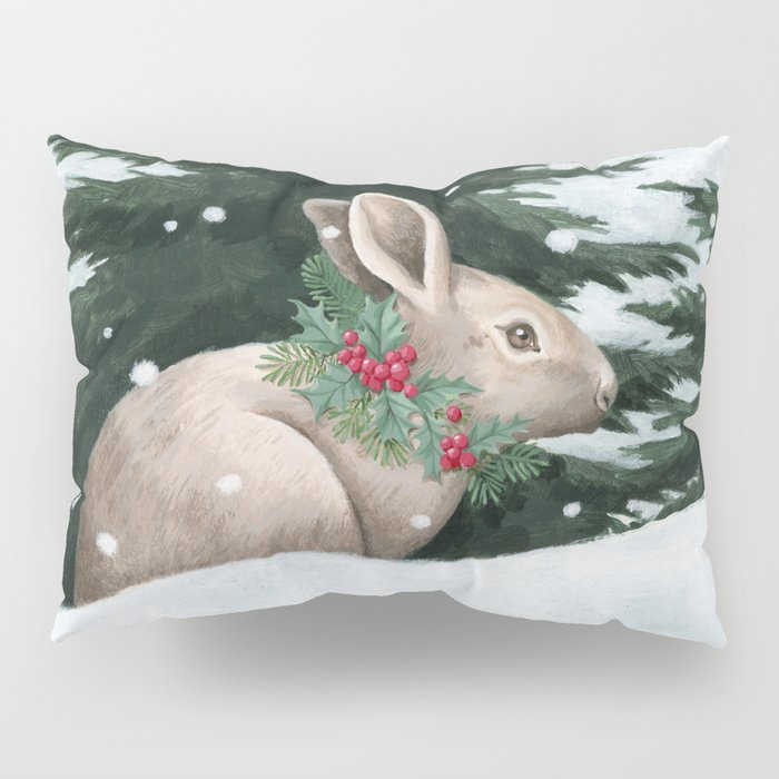 Winter Bunny Pillow Sham