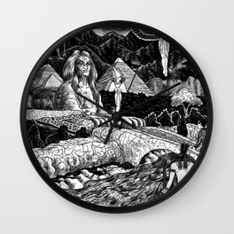 Dreaming Of Egypt Wall Clock