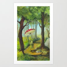 Frog in the Forest Art Print