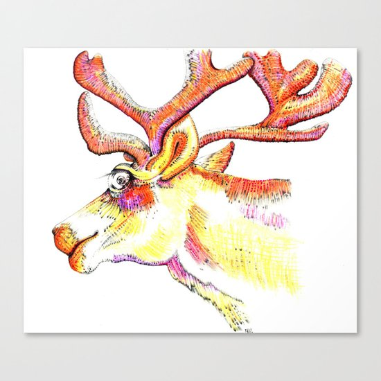 Holdiday drawings : Reindeer Canvas Print