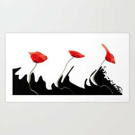 Moving poppies Art Print