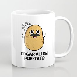 Edgar Allen Poe-tato Cute Potato Pun Coffee Mug