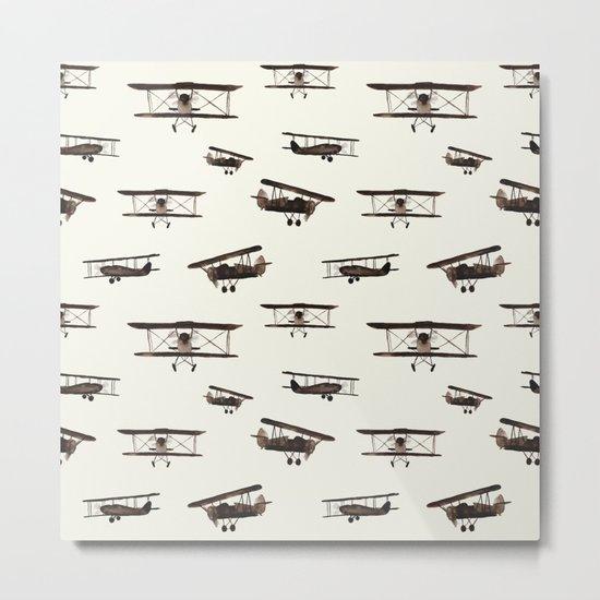 Retro airplanes Metal Print