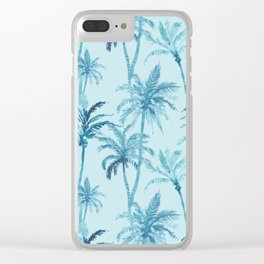 Watercolor Palm Trees 2 Clear iPhone Case