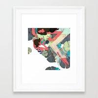 pisces Framed Art Prints featuring Pisces by Leonard Peng