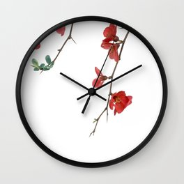 As They Blossom Cherry Blossoms (Color) Wall Clock