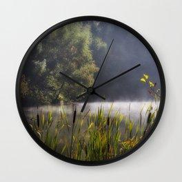 Autumn Mist at Mallards Pike Wall Clock