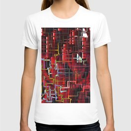red installation T-shirt