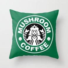 Super Mario's Mushroom Coffee Throw Pillow