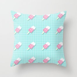 Popsicle Over Grid Lines Throw Pillow
