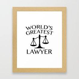 World's Greatest Lawyer Framed Art Print