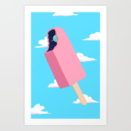 Creamsicle To Another Dimension...  Art Print