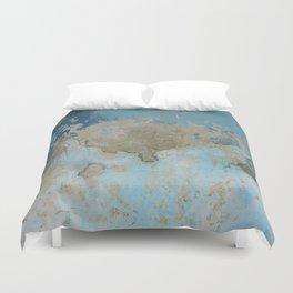 rough blue urban paint wall texture pattern Duvet Cover