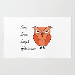 Cool sarcastic owl Rug