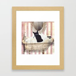Bad Cat II Framed Art Print