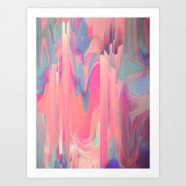 Simply Glitches Art Print