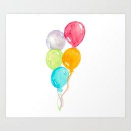 Balloons Painting Art Print